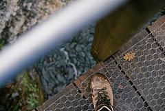 Peaks (Xavier Roeseler) Tags: canonae1 analogue 35mm film ishootfilm grainisgood filmisalive 28mm f28 hike fence