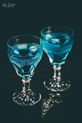 Blue magic (Lea Guti) Tags: blue curaqao pendant gothic dark black crystal glass vampire drink poison alcohol coctail food