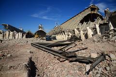 "Demolition job ""Potash"" warehouses DST_5449 (larry_antwerp) Tags: euroports potas magazijn warehouse demolition afbraak antwerp antwerpen       port        belgium belgi          aertssen caterpillar excavator"