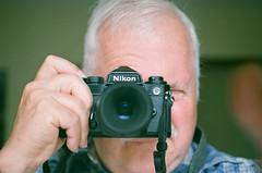 Nikon FE2 Selfie (Martin Smith - Having the Time of my Life) Tags: nikonfe2 35mmfilm fujicoloursuperiaxtra400 fujifilmfujicolorsuperiaxtra400 filmisnotdead selfie reflectioninmirror martinsmith ©martinsmith manualfocus