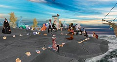 Avilion Heart - Cameo Theater (Osiris LeShelle) Tags: secondlife second life avilion heart medieval fantasy roleplay cameo theater act padstow jack dance drama partone performance show public stage actors
