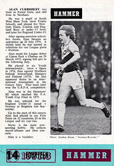 West Ham United vs Newcastle United - 1978 - Back Cover Page (The Sky Strikers) Tags: west ham united newcastle upton park football league division one hammer 15p official programme