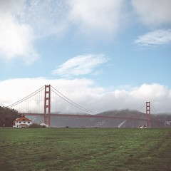 CLOUDSCAPE (Cre8 Thru Action) Tags: sanfrancisco bayarea goldengatebridge clouds grass outdoor sonyalpha a6000