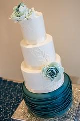 4 Tier Wedding Cake (2 of 2) (brian_barney9021) Tags: wedding cake ideas meringue lacrosse la crosse wi wisconsin bakery peacock buttercream frosting photoshop food lightroom nikon d3200