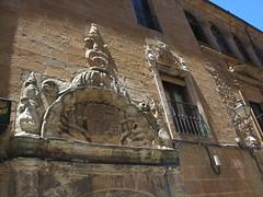 Carved details, Palacio de los Ríos y Salcedo, Soria, Spain (Paul McClure DC) Tags: sculpture españa architecture spain historic soria castile castillayleón june2014