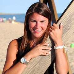 Cape Cod Beach portrait (Chris Seufert) Tags: woman beach girl beautiful square model capecod chatham squareformat hardings iphoneography