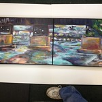 Placing two canvas pieces in one frame.