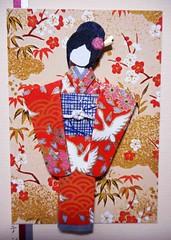 All-purpose handmade card 63_closeup of doll (tengds) Tags: red white art sticker cream card kimono bindi papercraft japanesepaper washi ningyo handmadepaper handmadecard chiyogami yuzenwashi japanesepaperdoll nailsticker indianbindi washidoll origamidoll kimonodoll washitape nailartsticker tengds japanesepatternprint allpurposecard