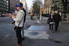 the Bowery (omoo) Tags: newyorkcity eastvillage manhattan couples streetscene prettygirl thebowery eatinglunch girlandboy lookingnorth cableknitsweater eatingonthego dscn7558 coupleeatinglunch east4thandthebowery