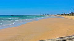 Ready For Summer: Bring It On! - Frankston Beach, Mornington Peninsula, Melbourne AU 28Nov2014 (JAYKAY144) Tags: wood blue sky beach water weather stone pier sand waves sunny australia melbourne morningtonpeninsula frankston beachscene