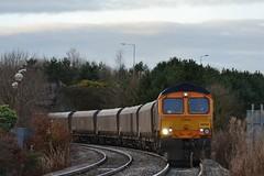 66733 6N66 (Northern156) Tags: cambridge station power great shed terminal 66 tyne class lane british coal psb ashington signalbox blyth hirst lynemouth railfreight gbrf 66733 6n66
