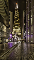 A rather narrow view of the Shard in London (Sharon- Jayne) Tags: london night shard