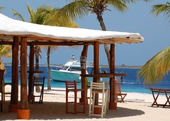 Beach bar (gillybooze) Tags: sea sky beaches vista caribbean bonaire allrightsreserved