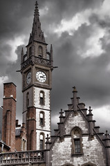 Ghent Clock Tower (2Colnagos) Tags: tower clock clouds photography europe belgium clocktower elite ghent gent flickrelite ghentclocktower