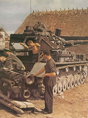 Engine Maintenance on a Panzer IV