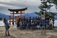 Field Trip, Sunset (Clint Atkinson) Tags: japan evening hiroshima miyajimaisland fieldtrip schoolstudents