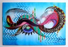 Blue (GEN -) Tags: street urban streetart graffiti gallery canvas urbanart organic gen texturas telas acrilic artarte desconstrucao genduarte