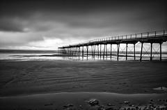Saltburn Pier (Mike Fellows) Tags: bw seascape beach silver mono pier pentax 10 stop pro nik k5 saltburn 1645 efex