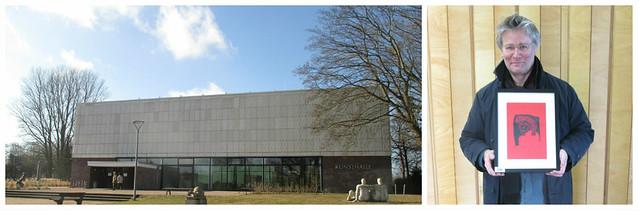 """Die Rostocker Kunsthalle zeigt ab dem 5. März zum sechsten Mal bei """"Rostock kreativ"""" hunderte Werke von Hobbykünstlern. Zum vierten Mal dabei: migras Michael Hugo, hier bei der Abgabe am 22. Februar. Im letzten Jahr kamen mehr als 12.000 BesucherInnen."""