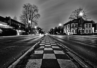 le milieu de la route