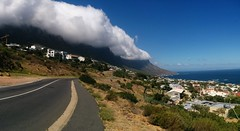 Victoria Rd to Hout Bay (vincentpanoramas) Tags: africa road sea cloud mountain nature clouds cycling town ride exploring south hills cape