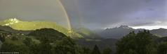 Quelque part dans le canton de Vaud, une fin de journée d'été (Annelise LE BIAN) Tags: sunshine montagne suisse panoramas vert explore nuages paysages coucherdesoleil arcenciel nwn dentsdumidi leysin coth fabuleuse fantasticnaturegroup coth5 sunrays5