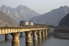 HXd21.075 dn Luopoling 281114 (Tom Marschall) Tags: china electric train beijing rail harmony cr 2014 hxd luopoling