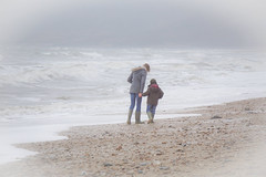 Sharing... (judy dean) Tags: sea beach misty fun mother son loveit dorset wellies charmouth 2015 judydean sonya6000