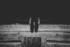 Resistance. (lukesewardphoto) Tags: wood blackandwhite bw woman beauty fashion barn rural hair nikon farm kentucky fear shed longhair haunted creepy horror louisville haunting cellar resistance resist barnloft lukeseward lukesewardphoto