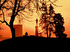 belgrade sunset (poludziber1) Tags: city sunset people orange sun colorful view capital serbia belgrade beograd landscap belgrado challengeyouwinner