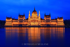 Budapest Parliament (Bethany O'Mullane) Tags: longexposure reflection building beautiful architecture canon river landscape lights europe hungary budapest parliament danube 6d canon6d flickraward5