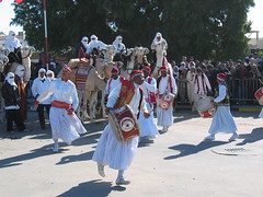 Folk Dancers and Musicians in Douz