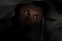 Day 27/365 (danielblundell92) Tags: camera selfportrait lamp start canon dark scary exposure alone slow fear knife falling shutter backdrop layers speedlite danielblundell