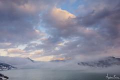 Lago di Campotosto (Andrea Morico) Tags: sunset sky mountain lake snow ice water fog clouds landscape lago nikon tramonto nuvole cielo neve nikkor nebbia acqua montagna paesaggio manfrotto abruzzo ghiaccio d610 campotosto lagodicampotosto 1635f4 lakecampotosto