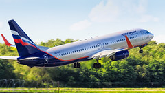 Aeroflot 738 (denlazarev) Tags: russia runway clouds canon air aviation airline airplane airport aircraft airliner sky spotting fly photo plane lightroom    jet rostovondon urrr moscow sheremetyevo takeoff vehicle outdoor summer boeing boeing737800 b737 b738 vqbvo   738