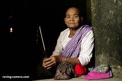 Old Woman at Angkor Wat, Cambodia (deemixx) Tags: cambodia angkor khmerkingdom buddhism incense ancientcity ancientruins
