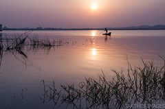 In search of livelihood (sakthi vinodhini) Tags: kolavai lake chengalpet sunrise fishermen fishing reflections cwc530 outdoor sky serene landscape shore
