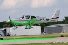 On the green dot please.... (arcticrail) Tags: oshkosh airplane aircraft airventure eaa airshow cirrus sr22