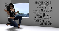 I Stand For Peace---Never Give Up (pulpfictionstudio) Tags: secondlife challenge peace home inspirational quote
