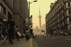 "Shanghai in BW ((C) HAN ""the Coffee Man"") Tags: shanghai city china bw modernclassic"
