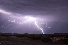 Saturday Night Special` (inlightful) Tags: lightning strike bolt electricalstorm monsoon thunder rain clouds sky nature weather night southwest newmexico socorrocounty
