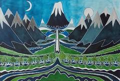 The Lonely Mountain Interpretation of the Classic Book Cover (rachel_douglas_art) Tags: thehobbit jrrtolkien watercolour painting art fineart commission fantasy adventure