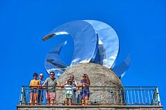 Xuntanza 2016 en Cambados 0165 (Pepe Fernndez) Tags: farodasluas montedasandras treslunas mirador escultura amigos grupo fotodegrupo