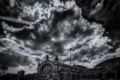 the central station frankfurt (ts photo art) Tags: world street sunset portrait sky blackandwhite bw sun streetart blur history clouds landscape blackwhite amazing heaven bright availablelight frankfurt streetphotography hauptbahnhof shade centralstation leicam beautyphotoart tsphotoart