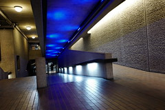 (aka Jon Spence) Tags: blue light london concrete interior barbican londonist