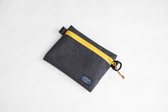 Flat Pouch Charcoal 03 (Imagery Bags) Tags: zipper ykk waterresistant flatpouch drypouch