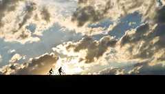 Biking (ramseybuckeye) Tags: life county boy ohio woman sun man art girl clouds allen pentax bikes reservoir bicycles riding biking bresler