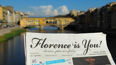 Florence (Werner Schnell Images (2.stream)) Tags: ws florence florenz firenze feeling ponte vecchio brcke arno river paper newspaper zeitung
