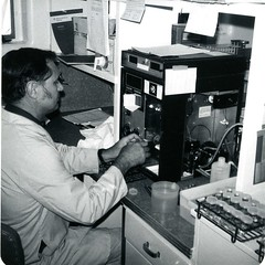 Making adjustments, 1979 (PUC Special Collections) Tags: laboratory lab pacificunioncollege chemistrydepartment chemistrylab chemistry beakers test tubes scientist labcoat experiments angwin california adventist sda seventhdayadventist college