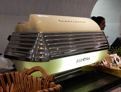 Sleek Coffee Machine (mikecogh) Tags: dublin coffee silver shiny machine retro museumofmodernart elektra